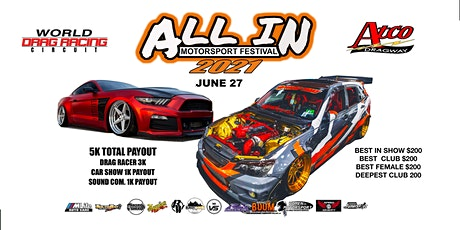 All In Motorsport Festival tickets