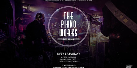 Piano works Farringdon // Every Saturday // Student Drink deals // IS BACK tickets