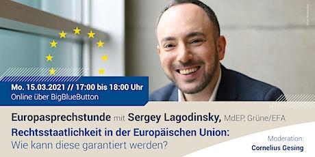 Digitale Europasprechstunde mit Dr. Sergey Lagodinsky, MdEP, Grüne/EFA tickets