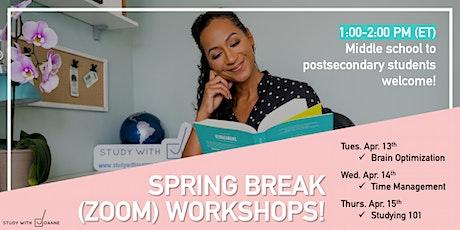 Study with Joanne - Brain Optimization: (Virtual) 1-Hour Workshop tickets