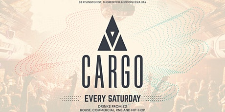 Cargo Saturdays // Student drink deals // IS BACK tickets