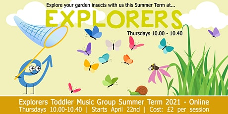 Evolve Music's Explorers Online Music Group for babies & toddlers - Summer tickets
