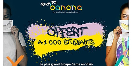 Escape game géant en visio offert à 1000 étudiants ! billets