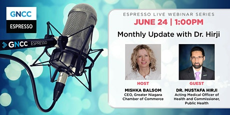 Espresso Live  with Dr. Hirji: June 24 tickets
