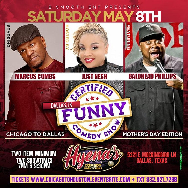 Dallas  Certified Funny Comedy Show Chicago to Dallas Mothers Day Edition image