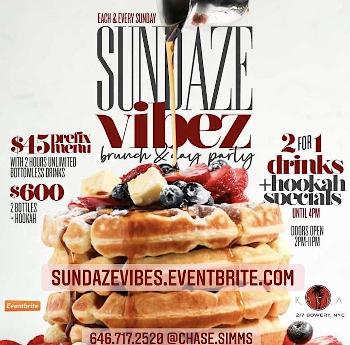 Sundaze Vibes Brunch Day Party Katra NYC Indoor dining soho bowery hookah image