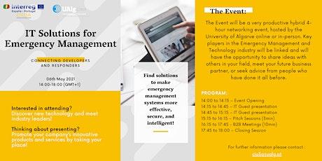 IT Solutions for Emergency Management biglietti