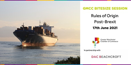 GMCC Bitesize Session - Rules of Origin Post-Brexit tickets