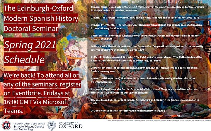 Edinburgh-Oxford Modern Spanish History Doctoral Seminar image