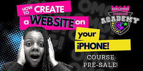 How to Create a Website on Your iPhone! tickets