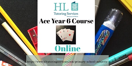 Spring 1 Online Tues Ace Year 6  Course (Primary KS2) 6 x 1hour lesson tickets