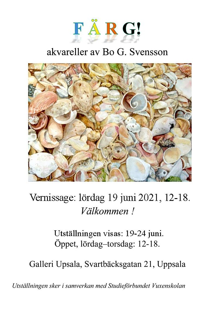 "Bo G. Svensson - ""FÄRG""  Akvareller bild"