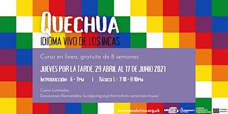 Clases de Quechua - Básico 1 boletos