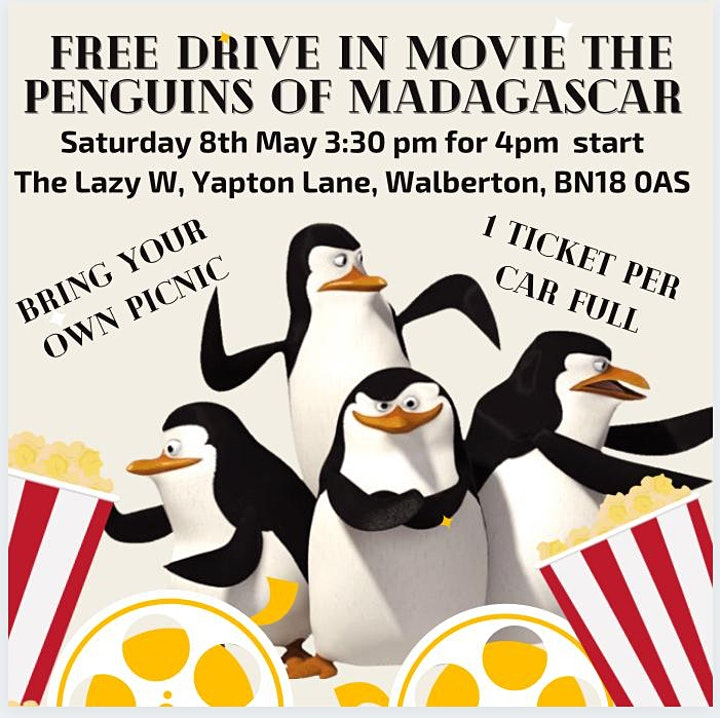 FREE DRIVE IN MOVIE - The Penguins of Madagascar image