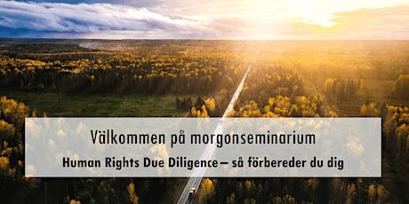 Morgonwebbinar: Human Rights Due Diligence – så förbereder du dig biljetter