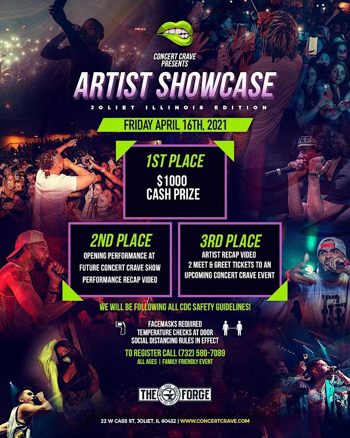 Concert Crave Artist Showcase - ILLINOIS 4.16.21 image