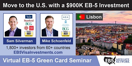 U.S. Green Card Virtual Seminar – Lisbon, Portugal ingressos
