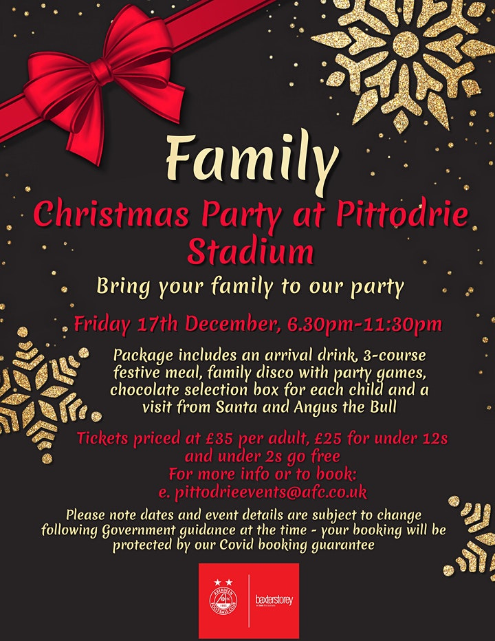 Family Christmas Party Night at Pittodrie Stadium image