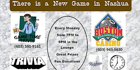 Game Time Trivia Mondays at Boston Billiard Club & Casino in Nashua tickets