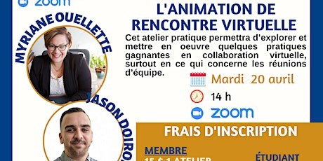 L'animation de rencontre virtuelle billets
