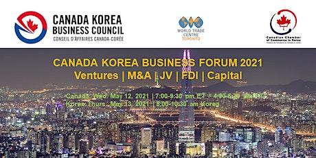Canada Korea Business Forum 2021 tickets