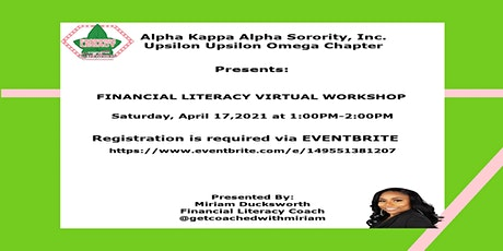 Financial Literacy Virtual Workshop tickets