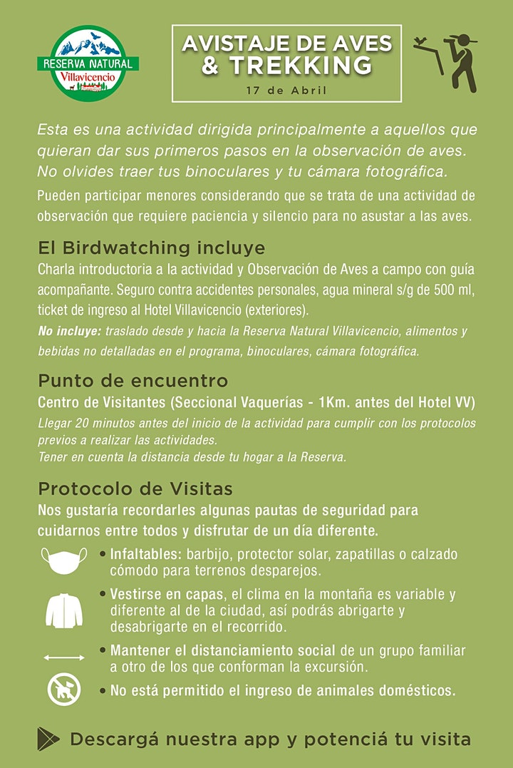 Imagen de Avistaje de Aves + Trekking en Reserva Natural Villavicencio