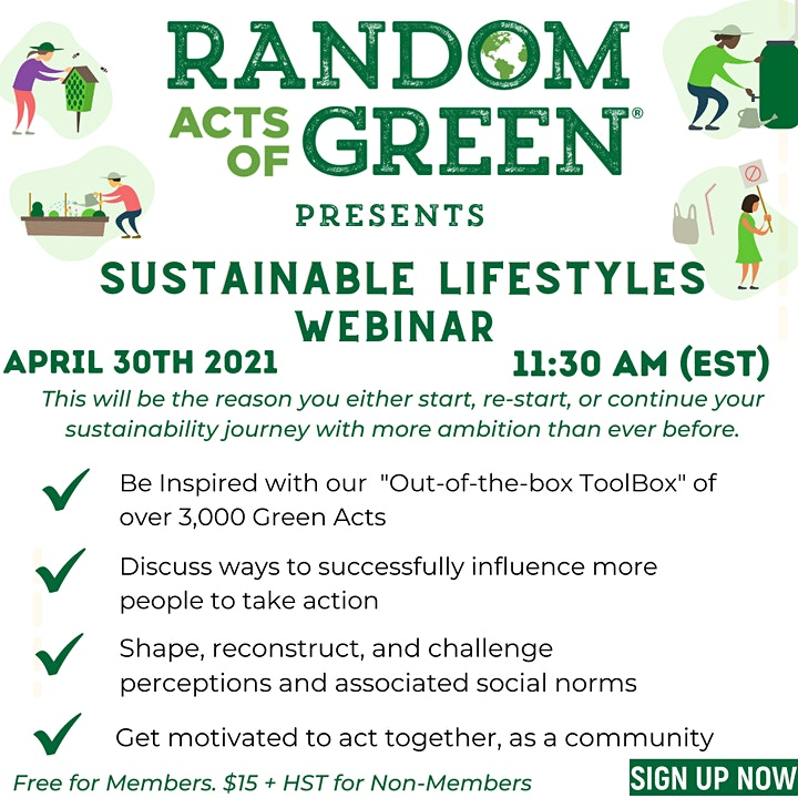 Random Acts of Green - Sustainable Lifestyles Webinar image