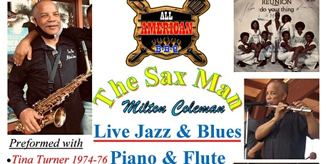 Live Jazz & Blues on the Sax, Piano & Flute @ All American BBQ tickets