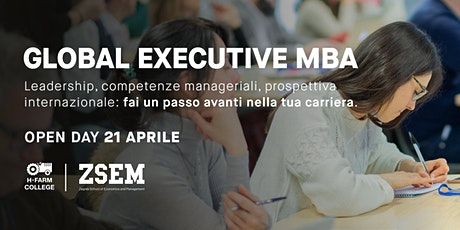Open Day Online Global Executive MBA ingressos