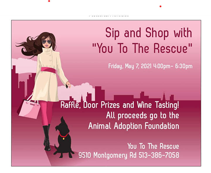 """Sip & Shop with """"You To The Rescue"""" image"""