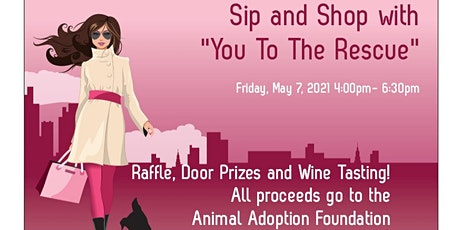 """Sip & Shop with """"You To The Rescue"""" tickets"""