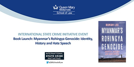 Book Launch: Myanmar's Rohingya Genocide: Identity, History and Hate Speech tickets