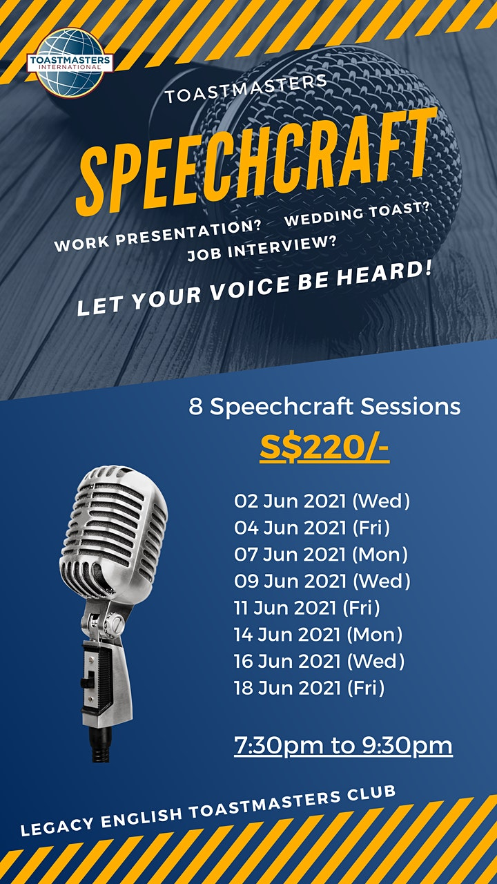 Legacy English Toastmasters Club Speech Craft 2021 image