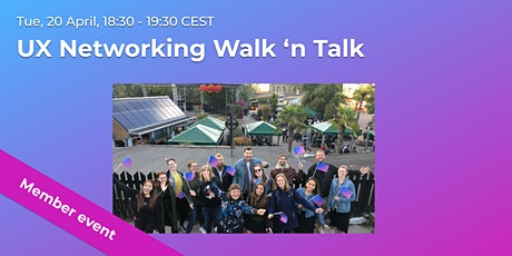 UX Networking Walk 'n Talk // CPHUX Members event tickets