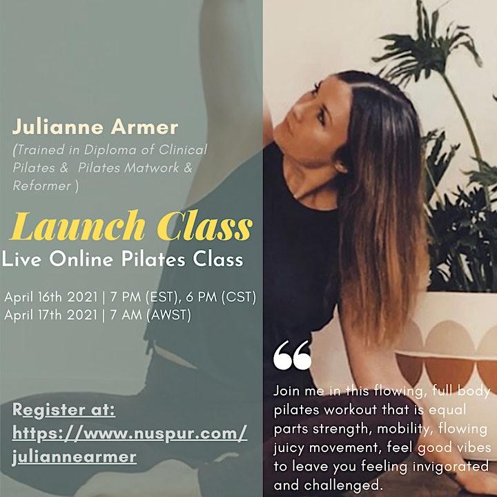 Pilates Launch Class  ( 30 mins workout session) image