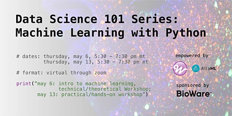 Data Science 101 Series: Machine Learning with Python tickets