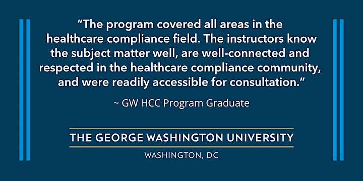 Healthcare Corporate Compliance Certificate Program Info Session via Webex image