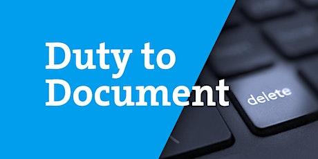Duty To Document  - Documentary Launch (Webinar) tickets