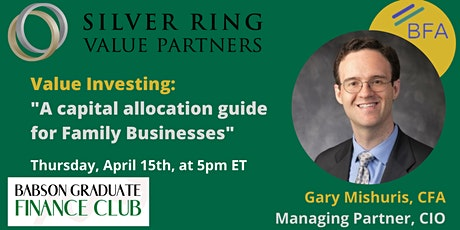 """Value Investing: A capital allocation guide for Family Businesses"" tickets"
