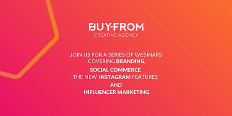Find out more about branding, social e-commerce, and Instagram ! tickets