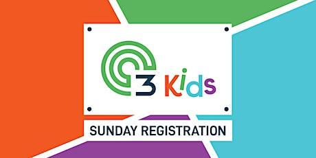 C3Kids Sunday Registration for 11am April 11, 2021 tickets