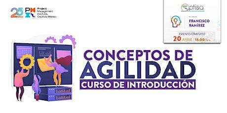 Curso Introducción Conceptos de Agilidad, exclusivo para socios del PMI MX boletos