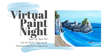 Virtual Paint Night: McWay Falls! tickets