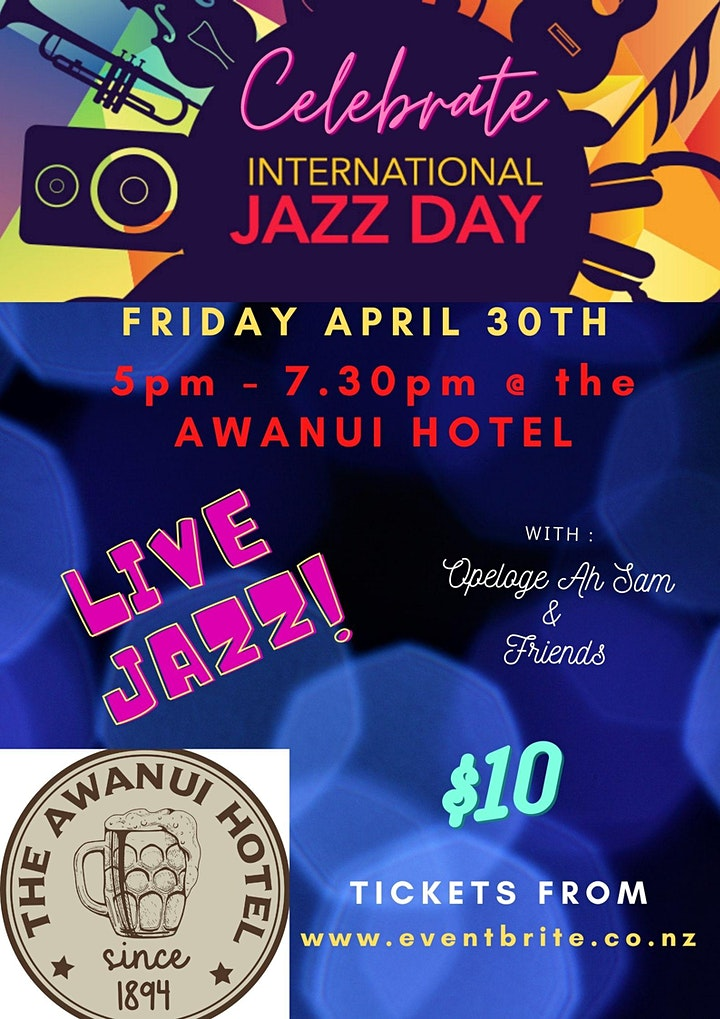 International Jazz Day @ Awanui Hotel image