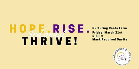 Hope.Rise.Thrive! tickets