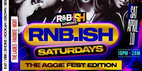 RNB SATURDAYS WE OUTSIDE 10PM  till 2 tickets