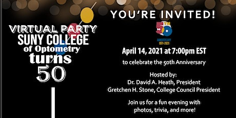 SUNY Optometry's 50th Anniversary tickets