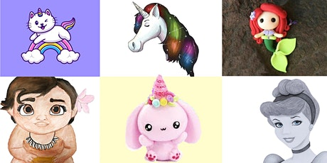 6 WEEKS Unicorns & Princesses Virtual Art Club  @Fridays 3PM (Ages 5+) tickets