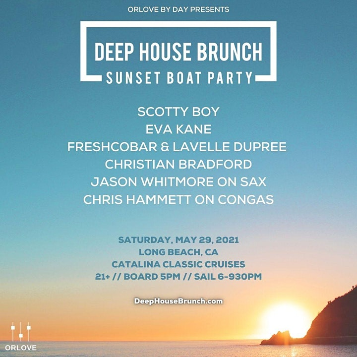 Deep House Brunch Sunset Boat Party - SOLD OUT image